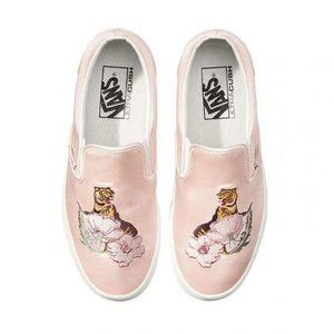 Vans California souvenir slip on tiger rose shoes